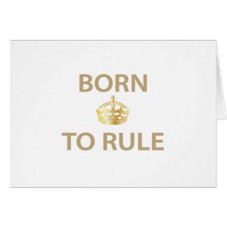 Llevado gobernar con la corona de oro tarjetón