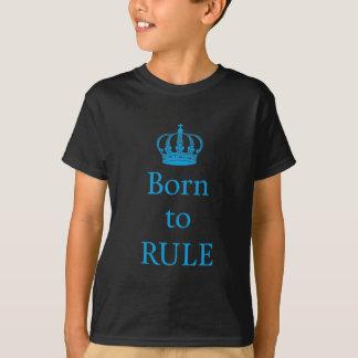 Llevado gobernar, diseño del texto con la corona playera