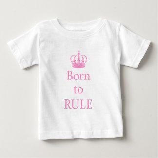 Llevado gobernar, diseño del texto con la corona playera de bebé