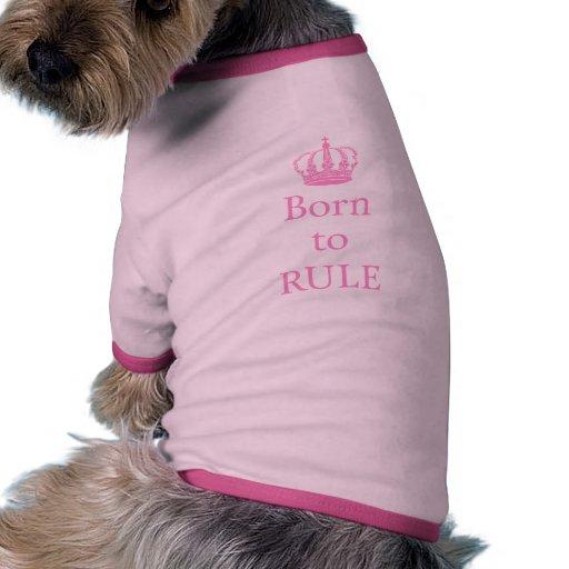 Llevado gobernar, diseño del texto con la corona r ropa de perros
