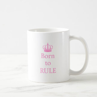 Llevado gobernar diseño del texto con la corona r tazas de café