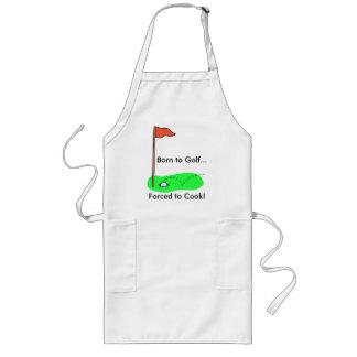 ¡Llevado Golf… forzado para cocinar! Delantal Largo