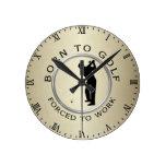 Llevado Golf forzado para trabajar Relojes De Pared