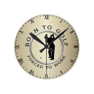 Llevado Golf forzado para trabajar Reloj Redondo Mediano
