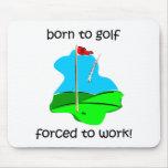 llevado golf forzado para trabajar alfombrilla de ratón