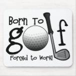 Llevado Golf, forzado trabajar Alfombrilla De Raton