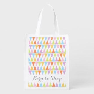 Llevado hacer compras bolso colorido modelado del bolsas para la compra