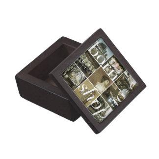 Llevado hacer compras caja de regalo de madera cajas de recuerdo de calidad