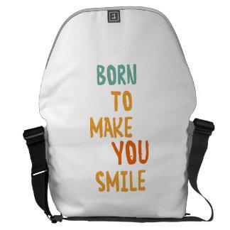 Llevado hacer que usted sonríe bolsa de mensajeria