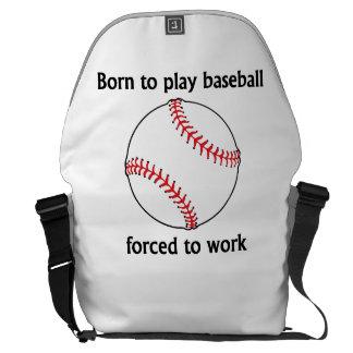 Llevado jugar al béisbol forzado para trabajar bolsas messenger