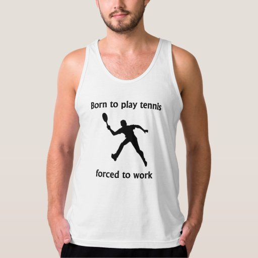Llevado jugar al tenis forzado para trabajar playera de tirantes