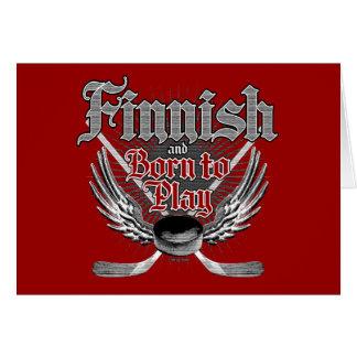 Llevado jugar finlandés tarjetón