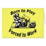 Llevado jugar forzado para trabajar negro de la mo felicitación