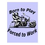 Llevado jugar forzado para trabajar negro de la mo postales