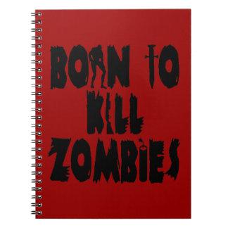 Llevado matar a zombis libros de apuntes con espiral