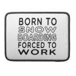 Llevado nevar embarque forzado para trabajar funda para macbook pro