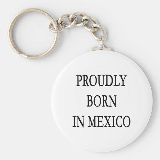Llevado orgulloso en México Llavero Redondo Tipo Pin