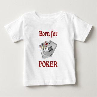 Llevado para el póker playera de bebé