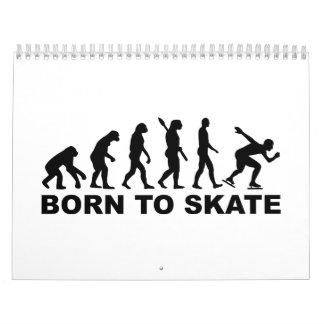 Llevado patinar patinaje de velocidad de la calendario