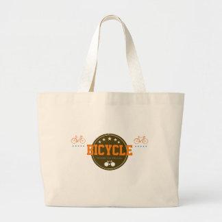 llevado pedal bici-temático bolsa tela grande
