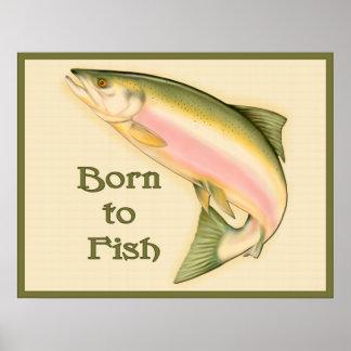 Llevado pescar el poster póster