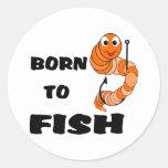 Llevado pescar etiqueta