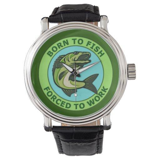 Llevado pescar forzado para trabajar relojes de pulsera