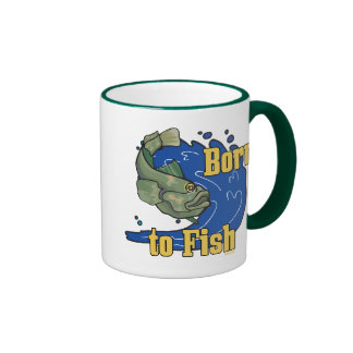 Llevado pescar la camiseta de la pesca taza a dos colores