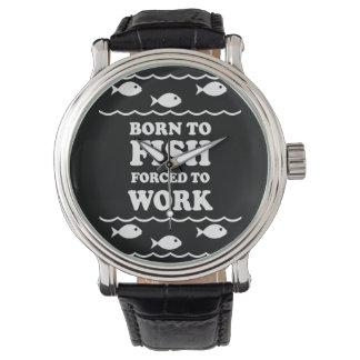 llevado pescar relojes de pulsera