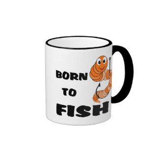 Llevado pescar taza de café