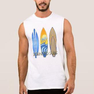 Llevado practicar surf camisetas