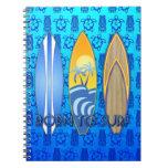 Llevado practicar surf cuadernos