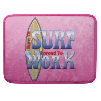 Llevado practicar surf forzado para trabajar funda para macbooks