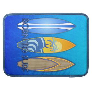 Llevado practicar surf funda macbook pro