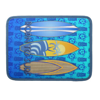 Llevado practicar surf funda para macbooks