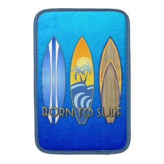 Llevado practicar surf fundas MacBook