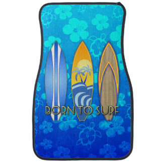 Llevado practicar surf Honu azul Alfombrilla De Coche