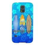 Llevado practicar surf Honu azul Fundas De Galaxy S5