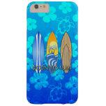 Llevado practicar surf Honu azul Funda De iPhone 6 Plus Barely There