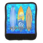 Llevado practicar surf Honu azul Funda Para Asa De Maleta