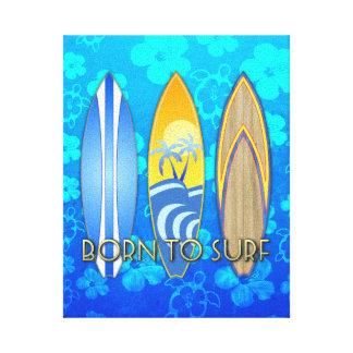 Llevado practicar surf Honu azul Impresión En Lienzo