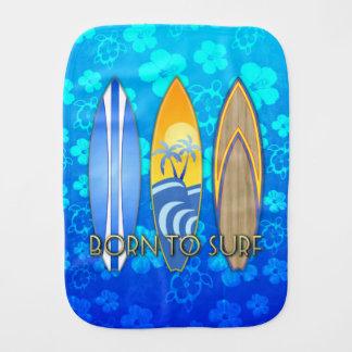 Llevado practicar surf Honu azul Paños Para Bebé