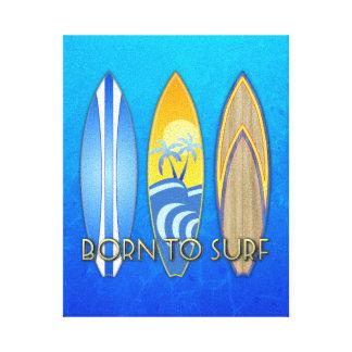 Llevado practicar surf impresión en lienzo