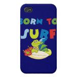 Llevado practicar surf las camisetas y los regalos iPhone 4/4S carcasas