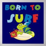 Llevado practicar surf las camisetas y los regalos impresiones