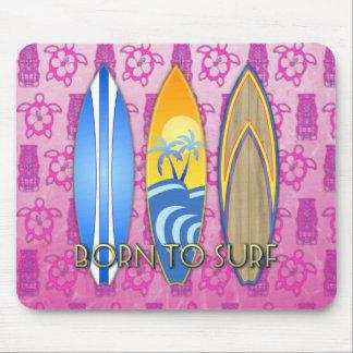 Llevado practicar surf alfombrilla de ratones