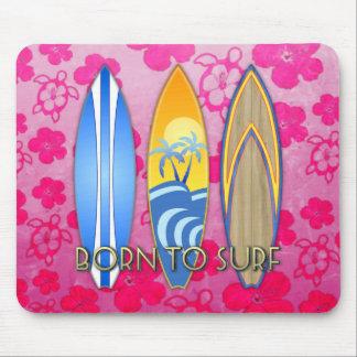 Llevado practicar surf alfombrillas de ratón
