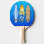 Llevado practicar surf pala de ping pong