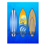 Llevado practicar surf postal
