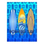 Llevado practicar surf tarjetas postales